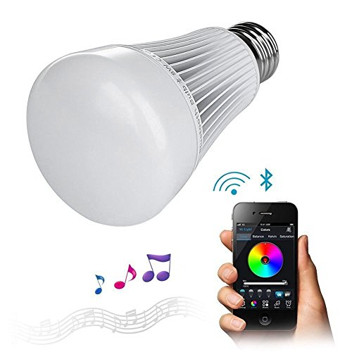 LIGHTEU, 8W E27 Bluetooth 4.0 LED Lampadina / Nightlight Playbulb / colore che cambia la lampadina - Regolabile 16000000 colore disponibile - Free APP Wireless Control - iPhone di sostegno / iPad / iOS / Samsung / Sony smartphone Android