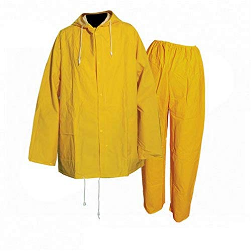 Conjunto impermeable amarillo hombre y pantalones impermeables