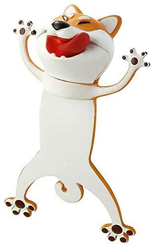 Wacky Bookmark Palz-3d Stereo Kawaii Cartoon Lovely Animal Bookmark Wacky Bookmark Palz Original,Cute Book Marks (Dog)