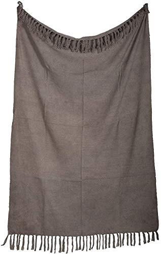 Trade Star Manta rústica teñida a mano, manta de algodón indio, suave con flecos, 120 x 170 cm, manta, manta de playa, tapete de picnic para decoración y regalos (3)