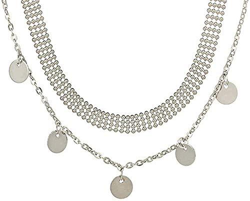 ZHIFUBA Co.,Ltd Necklace Necklace Fashion Women Jewelry Natural Alloy Gold Color Round Pendant Necklace Pendant Necklace Woman Choker Necklace Gifts