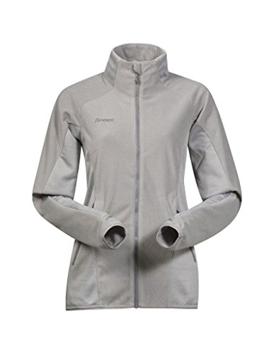 Bergans Damen Cecilie Fleece Fleecejacke, Solid Light Grey/Solid Grey, L