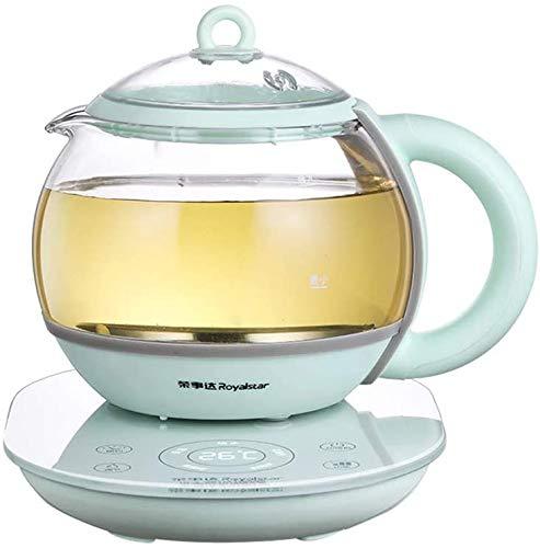 Gesundheit Topf, Büro mit kleiner Kapazität 0.8L Mini automatischer dickes Glas zu Hause Tee, 12 Stunden Reservierung/Timing, 6 Stunden Isolierung