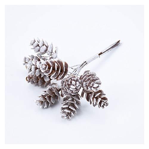 LUCHAO Künstliche Pflanzen gefälschte Zapfen Dekoration Blumen Künstliche Kranz Weihnachtskranz Hauptdekoration künstliche Blumen-Geschenk Handgemachte Pompom (Farbe : Pine Cone)