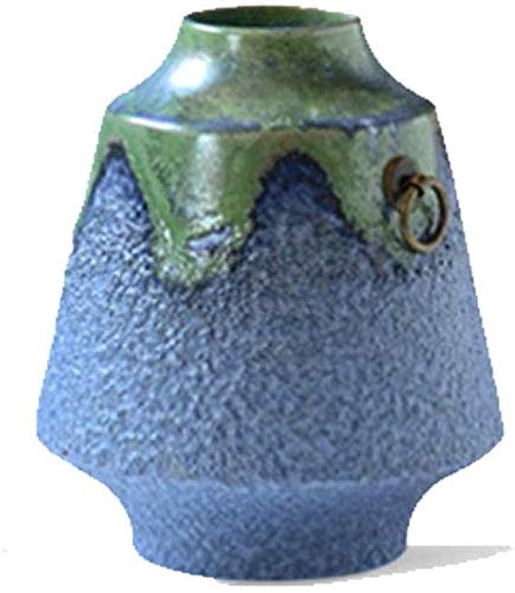 忠誠麺治す花瓶 セラミックセラミックブルー特性石器レトロFactorycreativeシンプル花瓶クリエイティブ磁器クラフト インテリア フラワーベース (Size : Style Two)