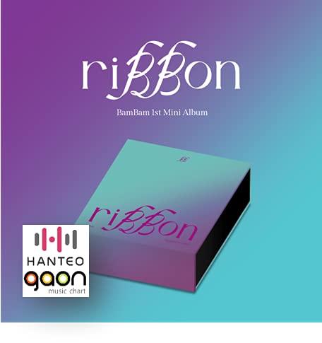 BamBam - riBBon [riBBon ver.] (1st Mini Album) [予約限定特典提供] CD+フォトブック+折りたたみポスター+Others with Tracking+追加 フォトカード, ステッカー