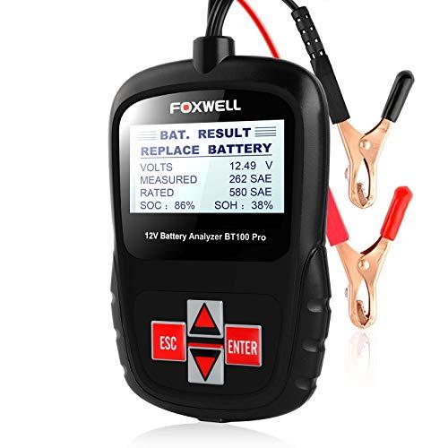 FOXWELL Battery Tester 12V Automotive Battery Analyzer Health/Faults Detector BT100 Pro