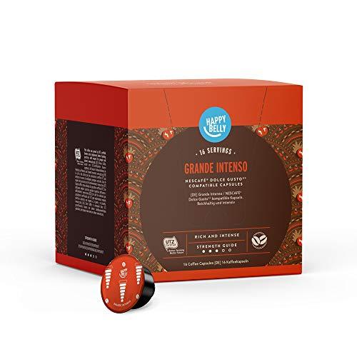 Marca Amazon - Happy Belly Cápsulas de café Grande Intenso...