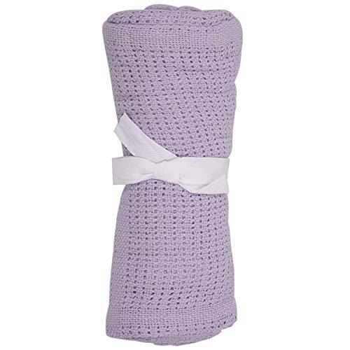 Baalaa 100% algodón bebé bebé celular suave manta cochecito cuna cuna cuna color púrpura claro
