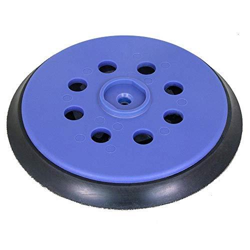 Plato de lija para lijadora excéntrica DeWALT D26410 - para Disco de Lijado de Velcro Ø 150 mm con 8-Agujeros para la extracción de Polvo - Blando, Medio o Duro - a su elección - DFS