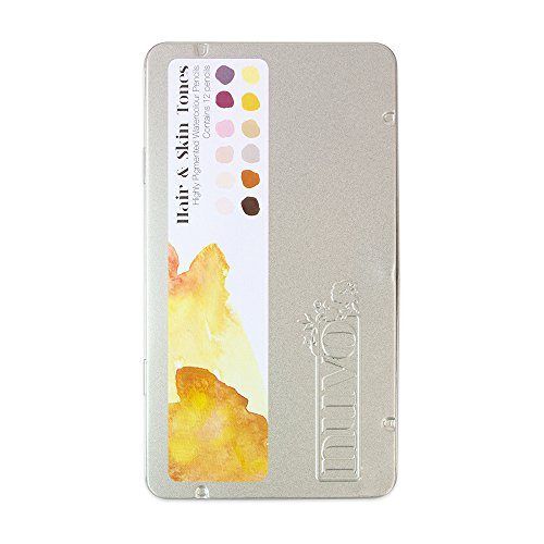 Tonic Studios Hair and Skin Tones Watercolour Pencils, Wood, Multicoloured, 12 x 4 x 0.4 cm