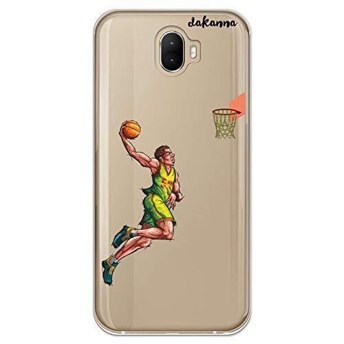 dakanna Funda Compatible con [Wiko Wim] de Silicona Flexible, Dibujo Diseño [Jugador de Baloncesto], Color [Fondo Transparente] Carcasa Case Cover de Gel TPU para Smartphone