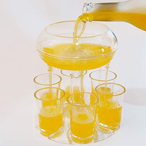 6 pequeños dispensadores de vidrio y dispensadores de líquidos/dispensadores de cócteles/dispensadores de gránulos/dispensadores de vino de barra de bar/dispensadores de bebidas