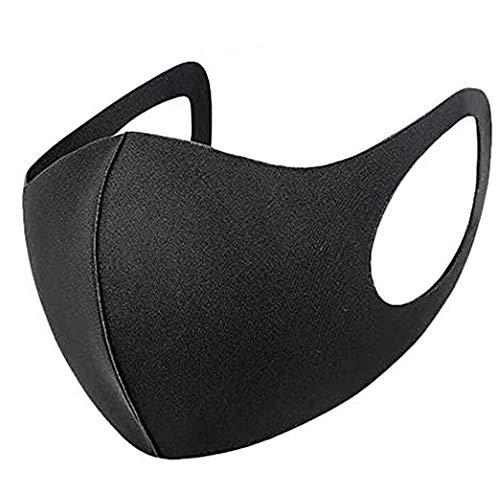 Waschbare, wiederverwendbare schwarze Gesichtsmaske, staubdicht, Mundbedeckung für Männer und Frauen, Outdoor, Indoor, Radfahren, Ski-Schutz