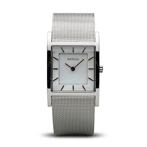 BERING Damen-Armbanduhr Analog Quarz Edelstahl 10426-010-S