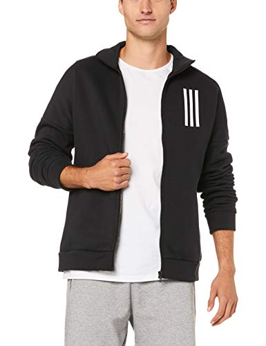 adidas Herren Sports ID Fleece Jacke, Black/White, L