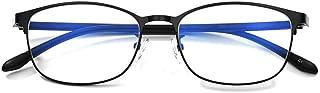 Dames Blue blokkeren Bril, Anti Hoofdpijn Eyestrain Computer Gaming Blocking Glasses,Black