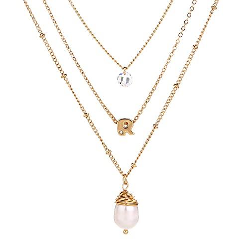 Naswi Chaîne sur Le Cou Bijoux Collier de Perles Colliers pour Femmes Cadeau à Petite Amie 2021 Mode Femmes Accessoires pour vêtements