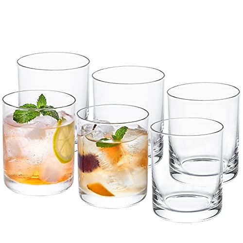 CREATIVELAND Glass Tumblers set of 6 Drinking Glasses Hand-Made...