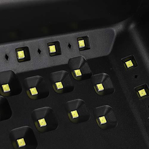 Luz ultravioleta, luz de secado de gel para uñas, luz de curado de gel para uñas, lámpara de uñas con batería de litio recargable de gran capacidad, ventilador para gel de uñas para uñas y(Transl)