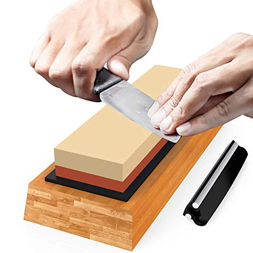 Premium Sharpening Stone Knife Sharpener Best Japanese Whetstone 1000/6000 Grit Wet Stone Kit for Kitchen Kamikoto Knives