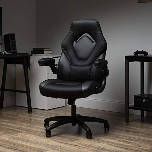 OFM ESS Collection Racing Style Gaming Chair, High Back, Black