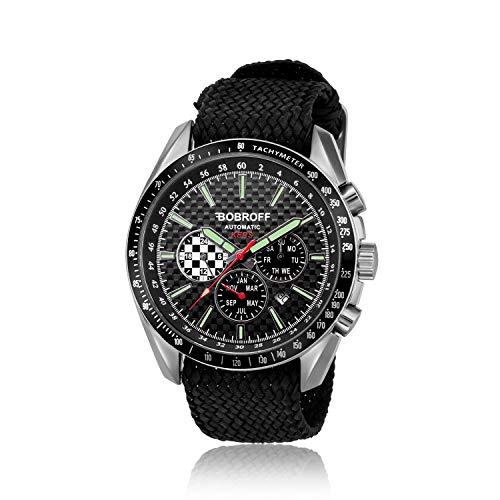 Bobroff Reloj Analogico para Hombre Automatico con Correa En Perlon BF0012V2PN