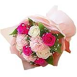 母の日 花 ギフト ソープフラワー 花束 ブーケ ピンク ローズ カーネーション 薔薇 造花 枯れない花 母の日2021 母の日プレゼント 母の日ギフト