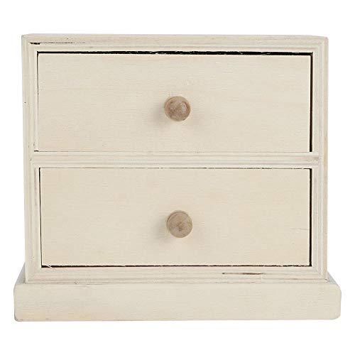 Caja de Almacenamiento, con cajones Caja de Almacenamiento de Escritorio, Elegante de Madera para Oficina Organizador de Documentos para el hogar Almacenamiento de Joyas