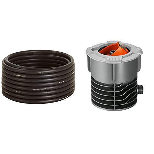 GARDENA Sprinklersystem Verlegerohr, Außendurchmesser 25 mm, 50 m-Rolle & Sprinklersystem Anschlussdose, versenkbarer Kugeldeckel, inkl. Profi-System Hahnstück