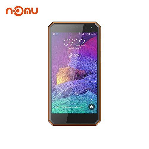 Outdoor Handy, Nomu M6 IP68 Außentelefone International Freigeschaltet 5.0 Zoll FHD Android 7.0 4G LTE Dual SIM 2G RAM 16G ROM ROM 5.0MP + 13.0MP Dual Kamera für Wandern Ski ing X Sport (Orange)