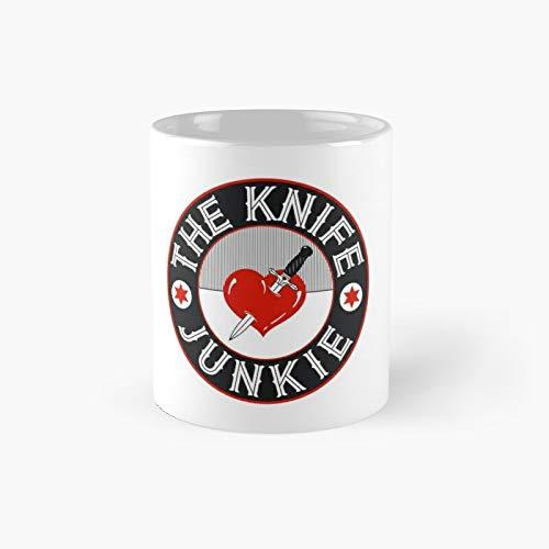 The Knife Junkie Classic Mug | Best Gift Funny Coffee Mugs 11 Oz