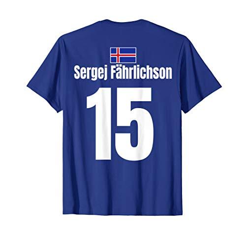 Fußball Junggesellenabschied Vatertag Island Sauf Trikot T-Shirt