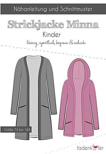 Schnittmuster und Nähanleitung - Kinder Strickjacke - Minna