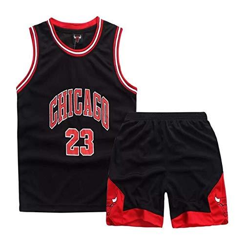 Niños Niños Niñas Hombres Michael Jordan # 23 Chicago Bulls Camisetas de baloncesto retro Disfraces de verano Kits de uniformes de baloncesto Top + Shorts 1 juego