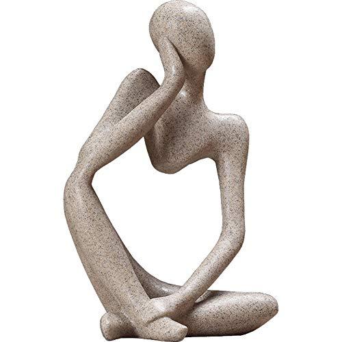 XM&LZ Zahlen Abstract Statuen, Nordische Retro Skulptur Ornamente Minimalistischen Office Home Weinschrank Dekorationen Skulpturen Möbel-a 6x9inch