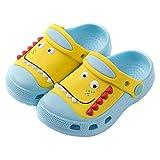Plzensen Kid's Dinosaur Clogs Cute Toddler Shoes Boys Girls Slide Slippers Indoor Outdoor Slip On Lightweight Beach Pool Sandals SkyBlue
