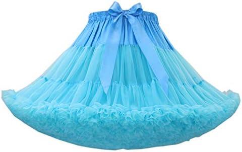 Adult Tulle Short Petticoat Fluffy Women/'s Petticoat with Ruffles 12 Colors