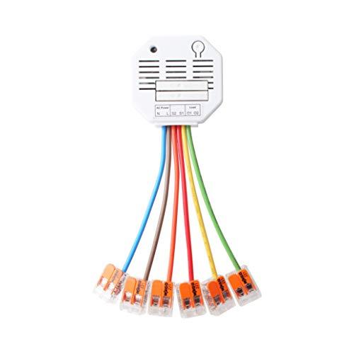 Lupus-Electronics 12128 Rollladenrelais V2 zur Automation (manuell, Zeit-oder Temp. gesteuert) Ihrer Beschattungen über die XT-Smarthome Alarmanlagen (Nicht XT1), 230V,