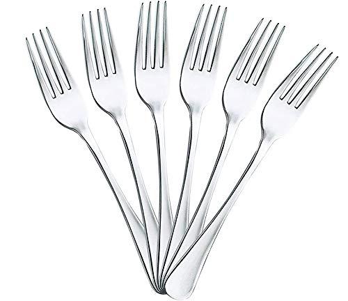 Vencede, 6 Tenedores Mesa de Acero Inoxidable y acabado brillante. Juego completo de cubiertos y utensilios de sala a elegir. Apto para lavavajillas. Colección de 22,5cm x 2,05cm (6 Tenedores Mesa)