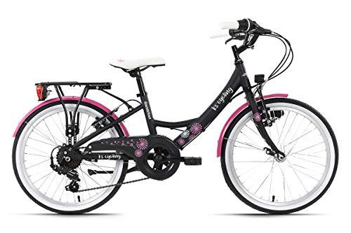 KS Cycling Kinderfahrrad 20'' Dandelion grau Alu-Rahmen 7 Gänge RH 29 cm