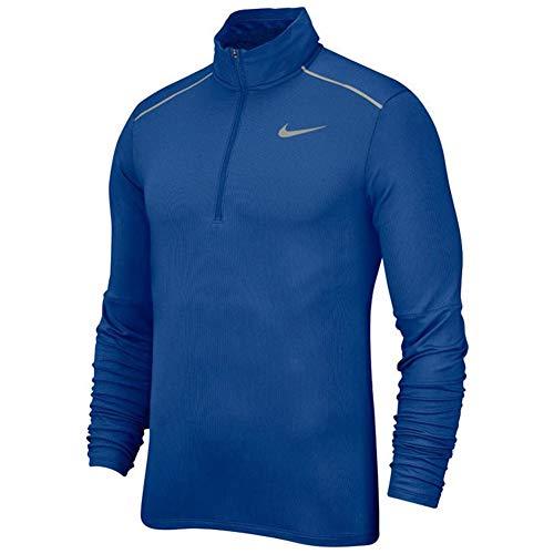Nike Element 3.0 - Camiseta de Running para Hombre (Media Cremallera) - Azul - Medium