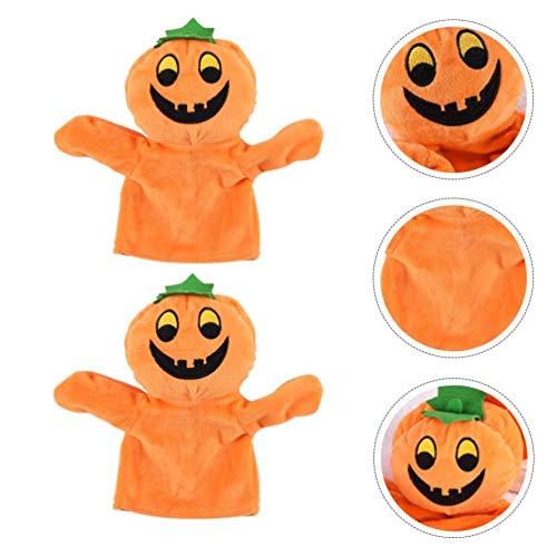 NUOBESTY 2 piezas de peluche de mano de marioneta de juguete adorable relajante regalo creativo para niños pequeños Halloween