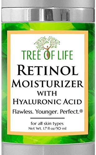 Tree of Life Retinol Facial Moisturizer | Renewing Face Cream with Botanical Hyaluronic Acid, 2 fl oz