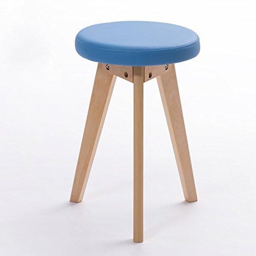 ZHANGRONG- Tabouret rond en caoutchouc de tabouret de tabouret de PVC de Housewares en 5 couleurs -Tabouret de canapé (Couleur : Bleu, taille : A)