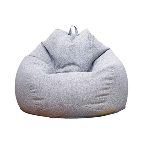 WXFN Puff Funda De Bean Bag Hecho De Tela De Lino Y Algodón Natural, Usado para De Sillónes De Adulto Infantil (Sin Relleno),D,L