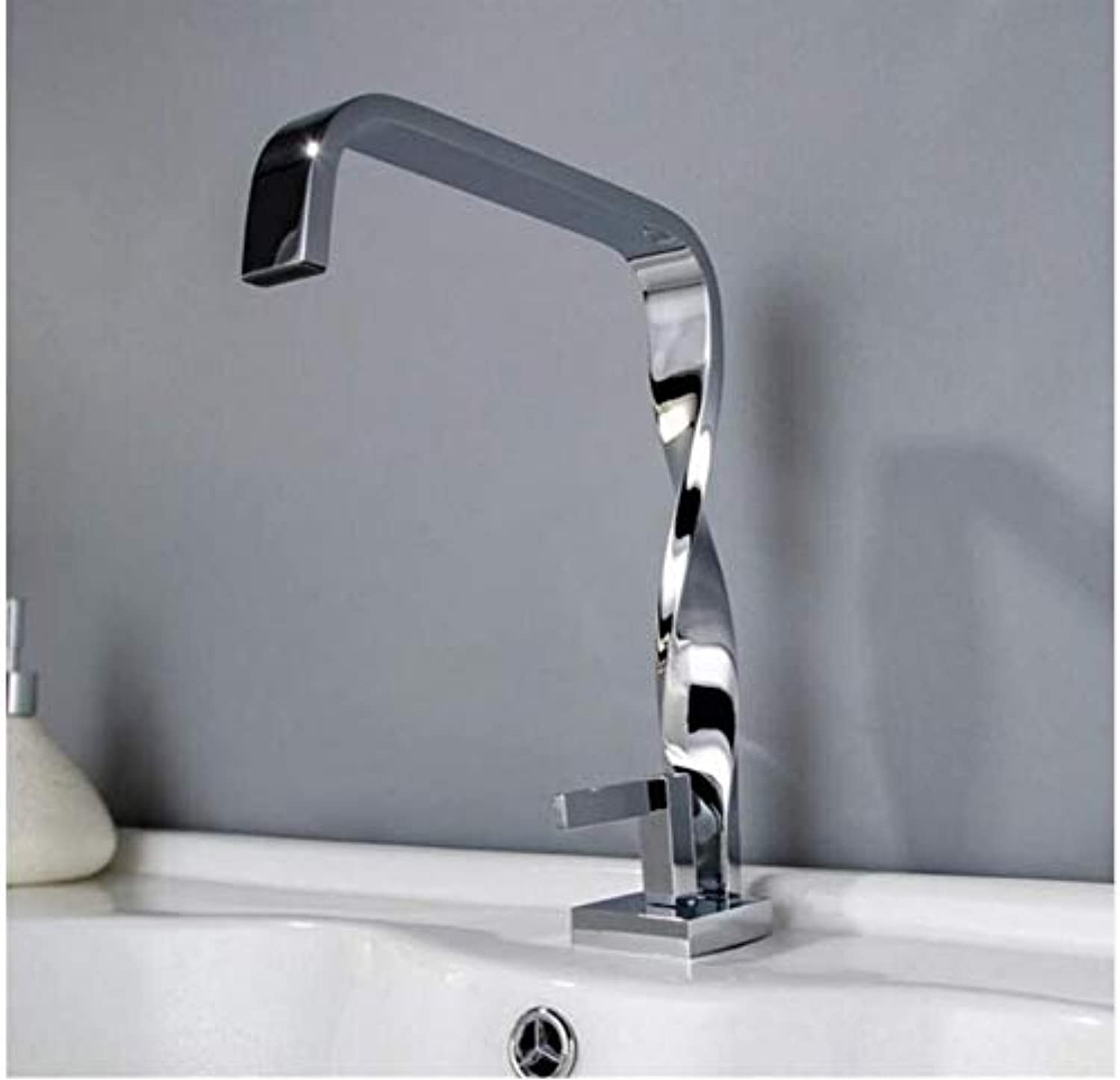 Modern Double Basin Sink Hot and Cold Water Faucetdeck Mounted Bathroom Basin Water Mixer Fashion Design