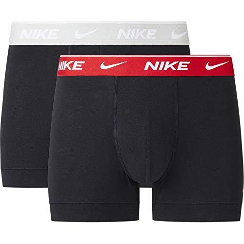 Nike 0000KE1085-M18 Trunk 2PK Men's Underpants Mens Blck w.Uni. red/lt gr. Heather wb S
