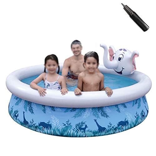 Portable Opblaasbare Basin Pool Verwisselbare Buiten Bovengronds Zwembad Dikke Opblaasbaar Zwembad Voor Kinderen,Elephant 205 * 47cm