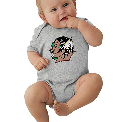 HUSONG Fighting Sioux Infant Bodysuit Creeper Baby Jersey Bodysuit Gray